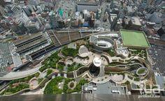 Японский 8-уровневый футуристический парк, парк