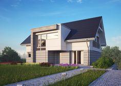 LK&1266 projekt domu LK&Projekt #architektura #domy #dom #jednorodzinny #architecture #LKProjekt