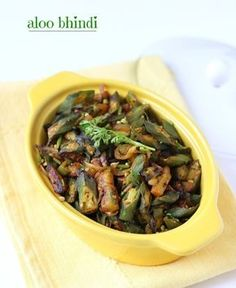 Dry Aloo Bhindi Recipe, How to make Aloo Bhindi Fry Recipe Indian Food Recipes, Vegetarian Recipes, Cooking Recipes, Healthy Recipes, Indian Foods, Curry Recipes, Healthy Food, Peanut Masala, Bhindi Fry