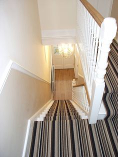 Striped Stair Carpet Runner : Classic style corridor, hallway and stairs by Style Within