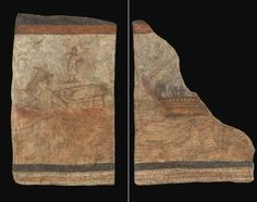 Early Christian Art-The earliest surviving paintings of Jesus, from the church at the ruined city of Dura-Europos on the Euphrates (dating from first half of the 3rd Century AD)