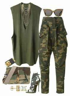Christian Dior, Faith Connexion, adidas Originals, Giuseppe Zanotti, Yves Saint Laurent and Chanel Mode Outfits, Chic Outfits, Fall Outfits, Summer Outfits, Fashion Outfits, Womens Fashion, Camo Fashion, Fashion Fashion, Camouflage Fashion
