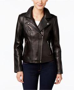 MICHAEL Michael Kors Petite Asymmetrical Leather Jacket