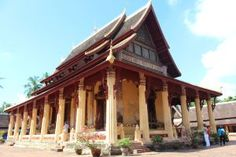 Wat Si Saket is the city's oldest surviving temple and the only one to have survived the Siamese colonization of Laos. In the mid-morning heat, it was a sleepy place, quiet and calm, with a sun-filled courtyard surrounded by colonnades.