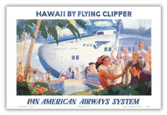 Amazon.com - Hawaii by Flying Clipper - Pan American Airways ...