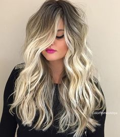 Love love love this hair I want it for myself. Balayage with root shadow
