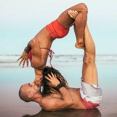 Yoga romance with the @yogabeyond team.
