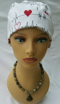 Scrub hat with ponytail and ribbon / Nurses hat / Surgical hat / Scrub hat / Operating Room hat - pinned by pin4etsy.com