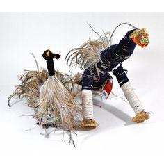 Kathy Dodd, Tjulpu (Bird) raffia, wool and wipiya (emu feathers), Tjanpi Desert Weavers Tesselations, Aboriginal Artists, Outdoor Classroom, Textiles, Indigenous Art, Outsider Art, Animal Sculptures, Op Art, Fractals