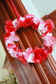 DIY Valentine's Day Wreath for the kids to make