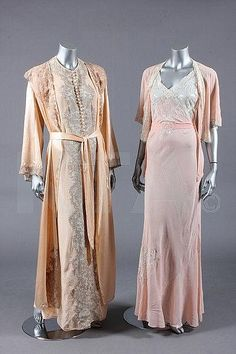 ~Two 1930s pegnoirs via Kerry Taylor Auctions~