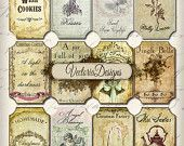 VectoriaDesigns | Digital Collage Sheets Vintage and Steampunk Printables