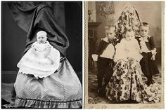 In the 1800's, mothers used to hide behind curtains and chairs during photographs. Find out why - OMG Facts
