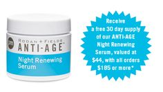 Night Serum filled with retinol & peptides...reduces wrinkles and pores. Free with order~Amazing stuff!