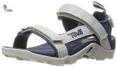 Teva Tanza C's, Sandales de Randonnée Garçon, Multicolore (Grey / Navy GRNY), 35 EU - Chaussures teva (*Partner-Link)
