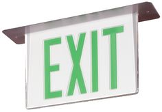GREEN LED EXIT SIGN COMBO
