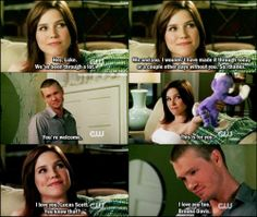 One Tree Hill, Brooke Davis, Lucas Scott I miss this show Lucas Scott, Brooke And Lucas, Best Tv Shows, Best Shows Ever, Movies And Tv Shows, Favorite Tv Shows, One Tree Hill Brooke, People Always Leave, One Tree Hill Quotes