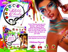 Edible body play paints - Edible body play paints. Erotic play time just got a lot sweeter with the Edible Body Plays Paints! Those d...