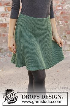 See you in dublin / DROPS - free knitting patterns by DROPS design, . - See you in Dublin / DROPS – free knitting patterns by DROPS design, - Knitting Terms, Baby Knitting Patterns, Free Knitting, Crochet Patterns, Drops Design, Skirt Pattern Free, Free Pattern, Skirt Knitting Pattern, Diy Vetement