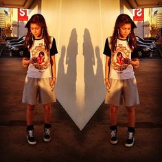 Zendaya instagram outfits | Her shirt features a digital print of Aaliyah, frontal panel made of ...