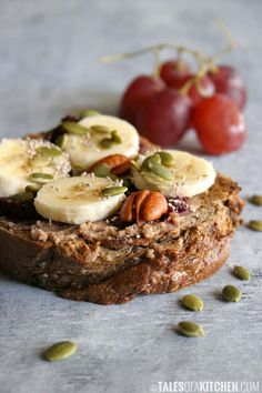 The best PBJ open sandwich + how to make pecan butter and basic raw jam