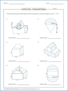 Volume of Compound Shapes lots of worksheets students can ...