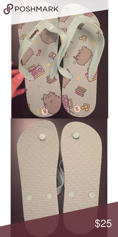 ⛄️Pusheen New Flip Flop Sandals S 7/8 New, never worn. Size small 7/8.  ✨Save $$$ when bundling with other items. 📍NO TRADE Pusheen Shoes Sandals