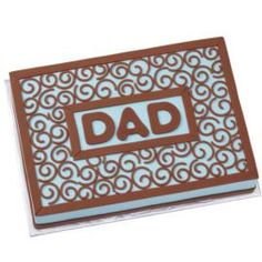 Father's Day Tribute Cake. Make Dad proud with a bold sheet cake dedicated to him. Create the lively fondant swirls that surround the message using the Sugar Sheets! @Wilton Cake Decorating Cake Decorating Cake Decorating