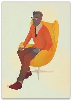 Art Symphony: Cool retro people by Jack Hughes