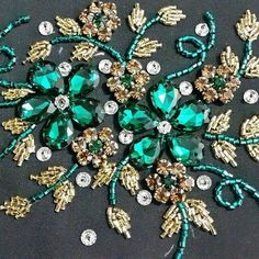 ideas embroidery techniques fashion tambour beading for 2019 Pearl Embroidery, Bead Embroidery Patterns, Tambour Embroidery, Couture Embroidery, Bead Embroidery Jewelry, Embroidery Fashion, Hand Embroidery Designs, Beaded Embroidery, Couture Embellishment