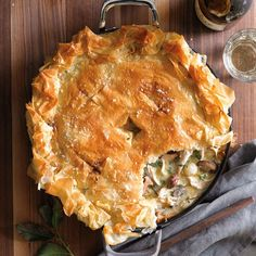 Someday I would like to try to make this yummy dish - Chicken Pot Pie with Mushrooms and Thyme | Williams-Sonoma
