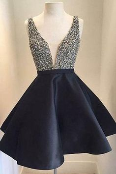 Cute Homecoming Dress, V-Neck Homecoming Dress,Short Prom Dresses, Backless  Prom