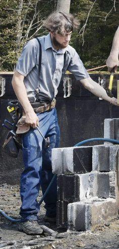 Young Amish carpenter