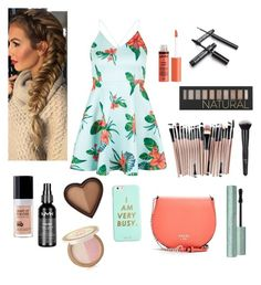 """lunch"" by eliyanakubelis on Polyvore featuring New Look, Forever 21, NYX, Too Faced Cosmetics, MAKE UP FOR EVER, ban.do and GUESS"