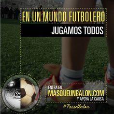 El fútbol une a millones alrededor de una misma emoción. Hagamos con esta actitud un cambio para quienes menos tienen!   Dona en www.masqueunbalon.com y obten uno de los balones originales de las obras de arte que hizo Vik Muniz en México y Brasil.