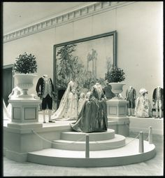 """The Metropolitan Museum of Art, Wing D, Gallery 6: """"Costumes, 1750-1850,"""" (May 10-June 5, 1932). Photographed in 1932. Image © The Metropolitan Museum of Art"""