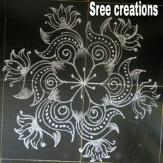 Sreelakshmi's rangoli Indian Rangoli Designs, Rangoli Designs Latest, Simple Rangoli Designs Images, Rangoli Designs Flower, Rangoli Border Designs, Rangoli Designs With Dots, Beautiful Rangoli Designs, Rangoli Borders, Rangoli Patterns