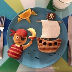 Pirate breakfast, foodart
