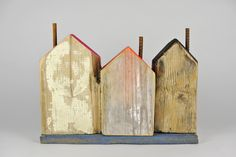 HJB Art Houses, Clay Houses, Wooden Houses, Ceramic Houses, Miniature Houses, Architecture Geometric, Wood Projects, Projects To Try, Crafts To Make