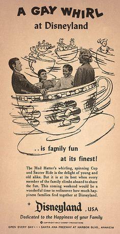 A Gay Whirl at Disneyland, 1950s - Vintage Disneyland Ad