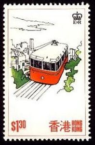 Issued in 1977, Hong-Kong - Funicular railway