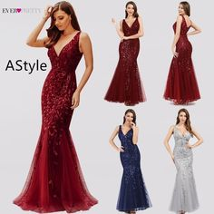 Robe De Soiree Ever Pretty Sexy Mermaid Evening Dresses Long Sparkle Draped Tulle Formal Dresses Elegant Women Party Gowns If You Want to get more ideas just click picture. Royal Blue Evening Dress, Blue Evening Dresses, Mermaid Evening Dresses, Evening Gowns, Prom Dresses, Formal Dresses, Party Gowns, Party Dress, Peacock Dress