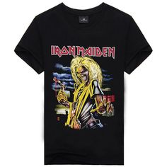 Iron Maiden Brand 3D t shirt New Style Heavy Metal Streetwear Men's T-shirts 100% Cotton Casual Short Sleeve TOP Tees