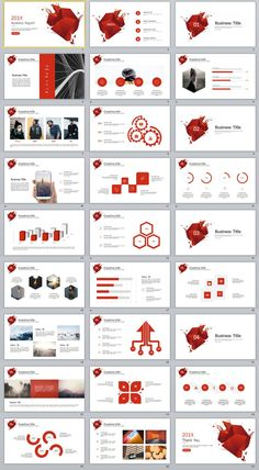 27+ red Buesiness PowerPoint Presentations template