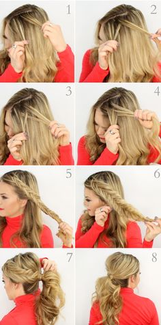The Dutch Fishtail Pony Hairdo for Parties and Occasions