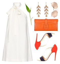 Drinks on The Mezzanine by cb-hula on Polyvore featuring polyvore fashion style Chloé Christian Louboutin Hermès Irene Neuwirth Linda Farrow clothing
