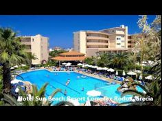Hotel Sun Beach Resort Complex Rodos, Grecia Creta, Beach Resorts, Sun, Outdoor Decor, Home, Rhodes, Ad Home, Homes, Haus