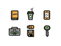 30 Random Icons [EPS Download] by Kevin Moran