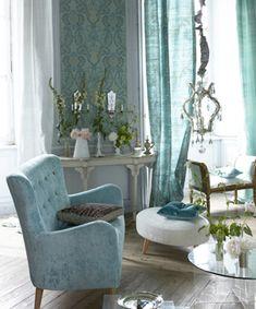 Ruggiero Fabric in this beautiful Pale Jade setting