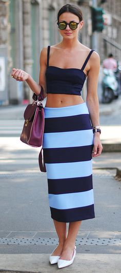 Cropped top + stripes